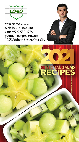 Recipes Calendar with business card atta