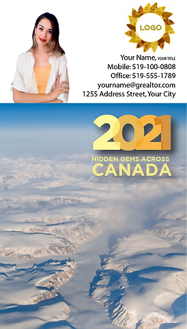 Canada Calendar with business card attac