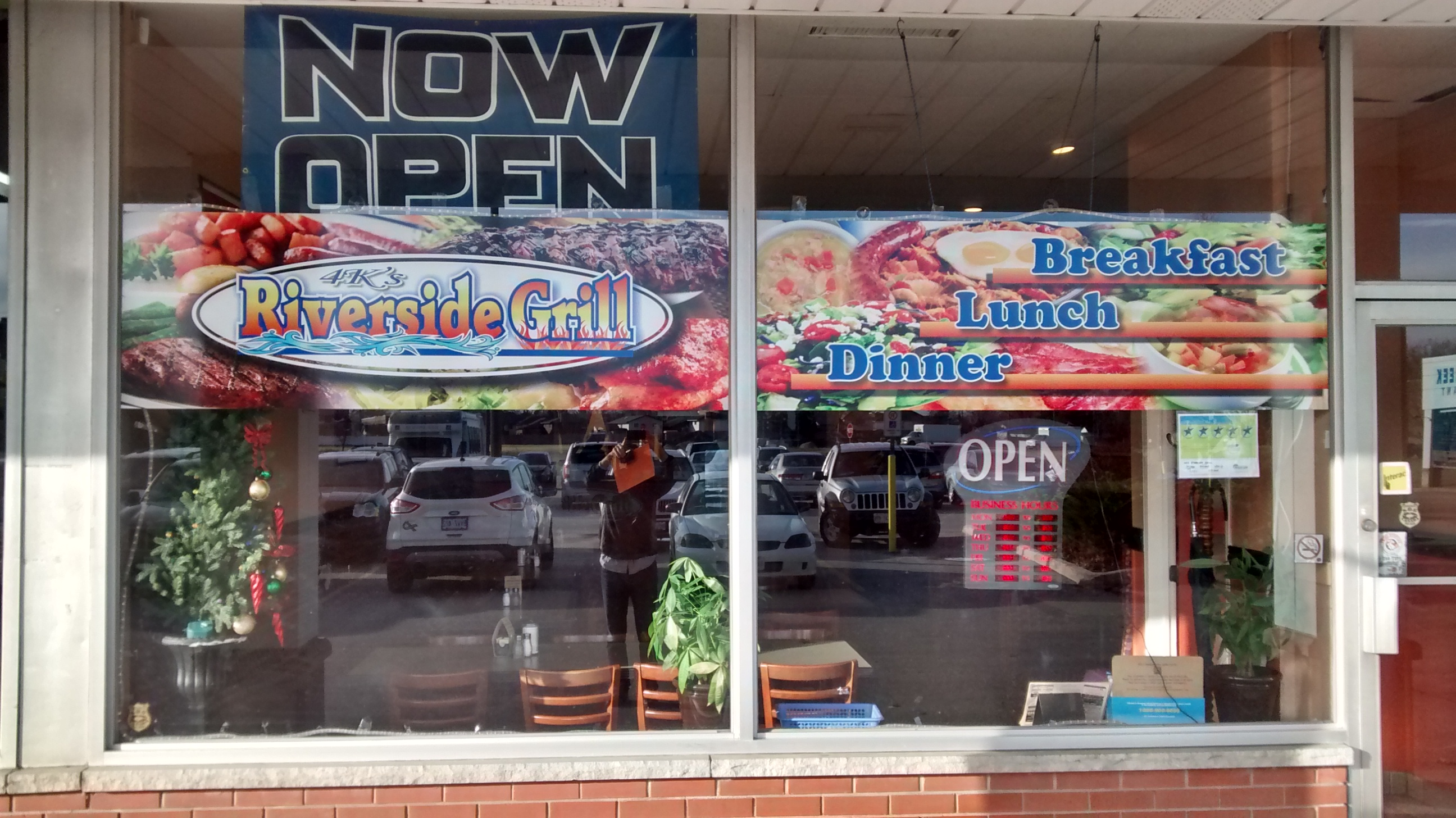 restaurant window colour graphics