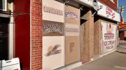 window perforated signs