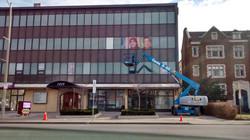 elevated window graphics installation