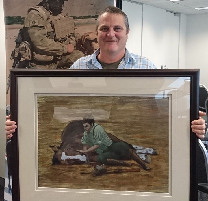 Veteran artist Brad Kay Army Art talks veteran mental health and post traumatic stress disorder and the benefits of arts engagement and art therapy for military personnel