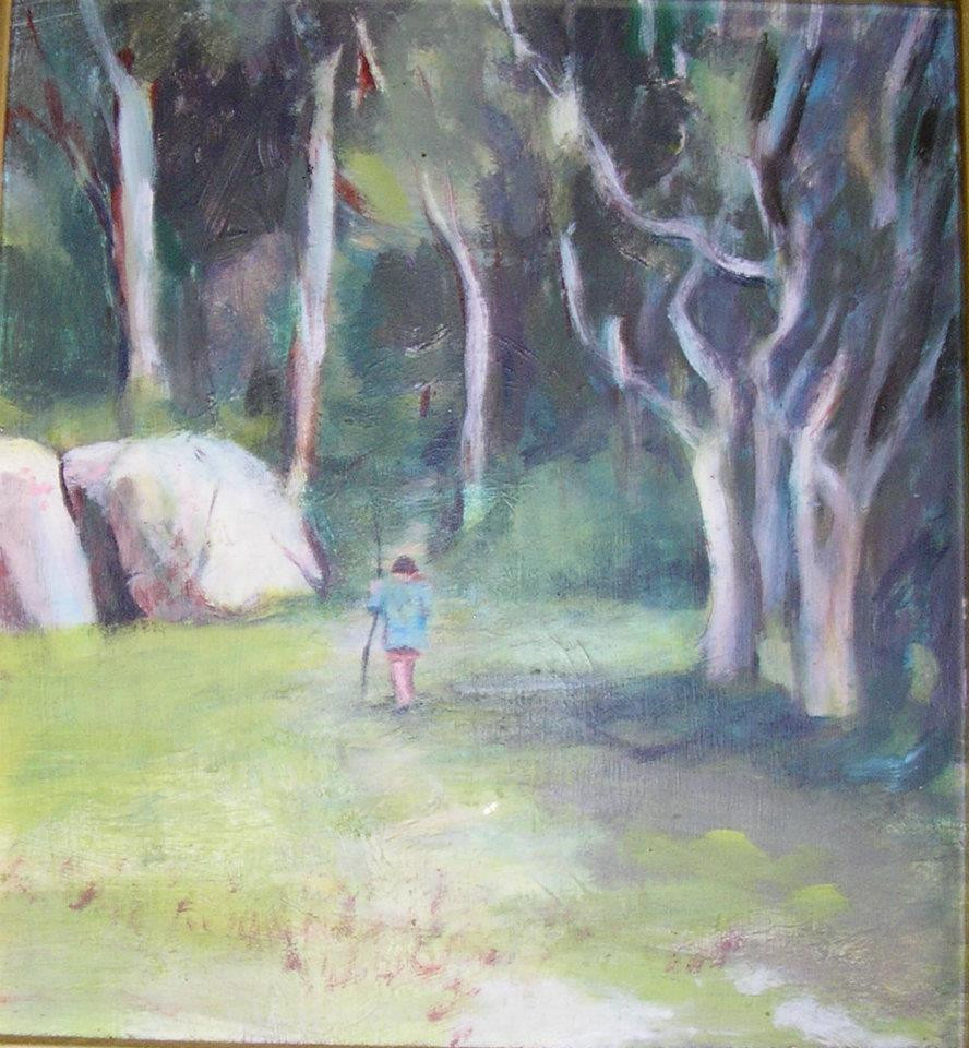 Landscape Painting by artist Louise Mustard
