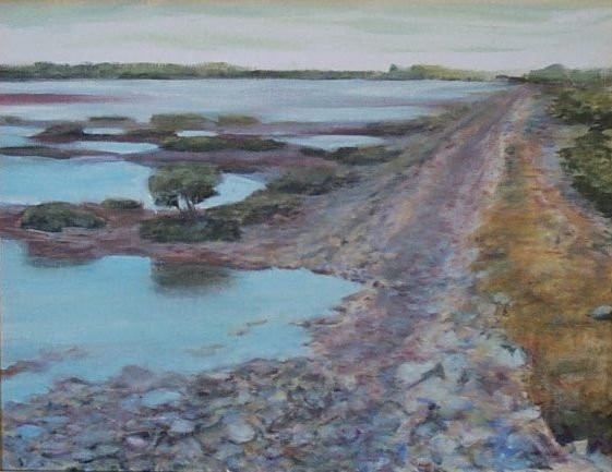 Landscape painting artist Louis Mustard