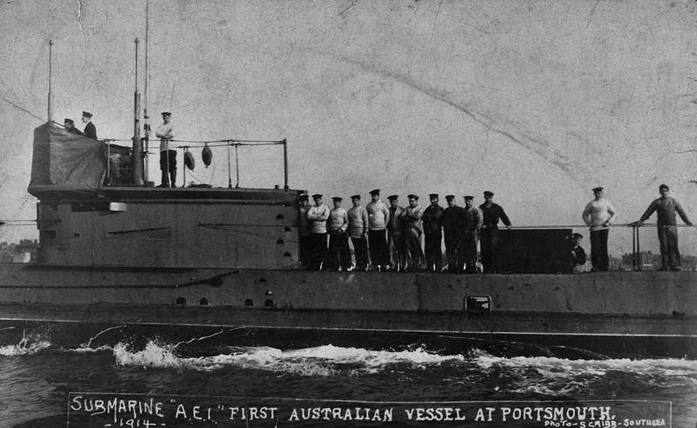 Jo Darbyshire's installation Warship is a recreation of the AE1 sunk in 1914