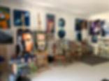Suzie Brown artist converted art studio and gallery