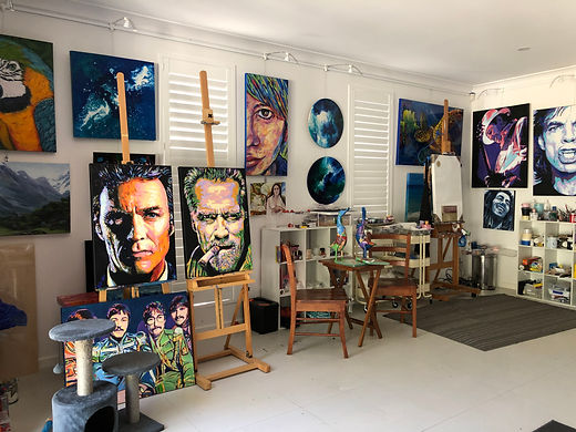 Suzie Brown artist converted art studio and gallery