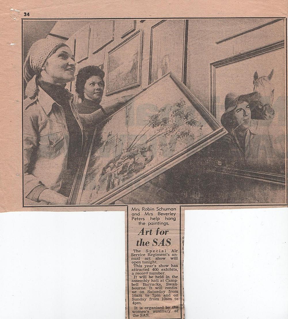 Newspaper clip c. 1977