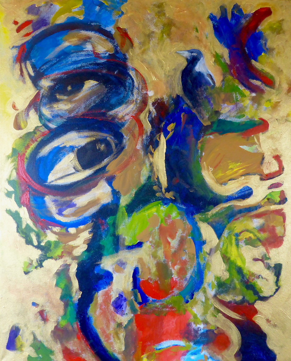 Abstract painting art therapy by artist Louise Mustard