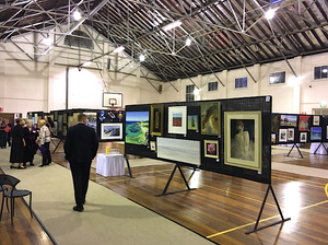 Army Art exhibition of contemporary australian artists and artwork for community arts engagement held at Leeuwin Army Barracks
