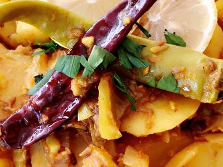 Spicy Aromatic Potatoes (aaloo) Subzi curry