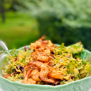 Chile Lime Shrimp Over Mexican Inspired Salad