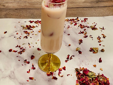 Strawberry & Rose Iced Drink