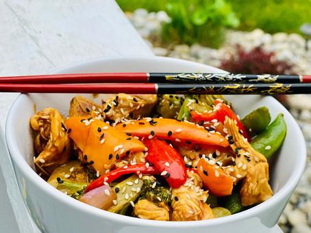 Velvet Chicken and Mixed Vegetable Stir Fry