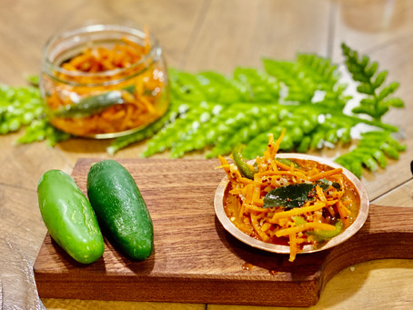 Carrot Achar (South Asian Pickle)
