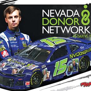 Joey Gase & Nevada Donor Networkto HonorLocalDonorHeroesand Their FamiliesIn Pennzoil 400