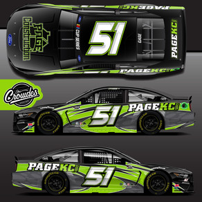 """Page Construction"" RETURNS AS PRIMARY SPONSOR FOR JOEY GASE AT KANSAS SPEEDWAY"
