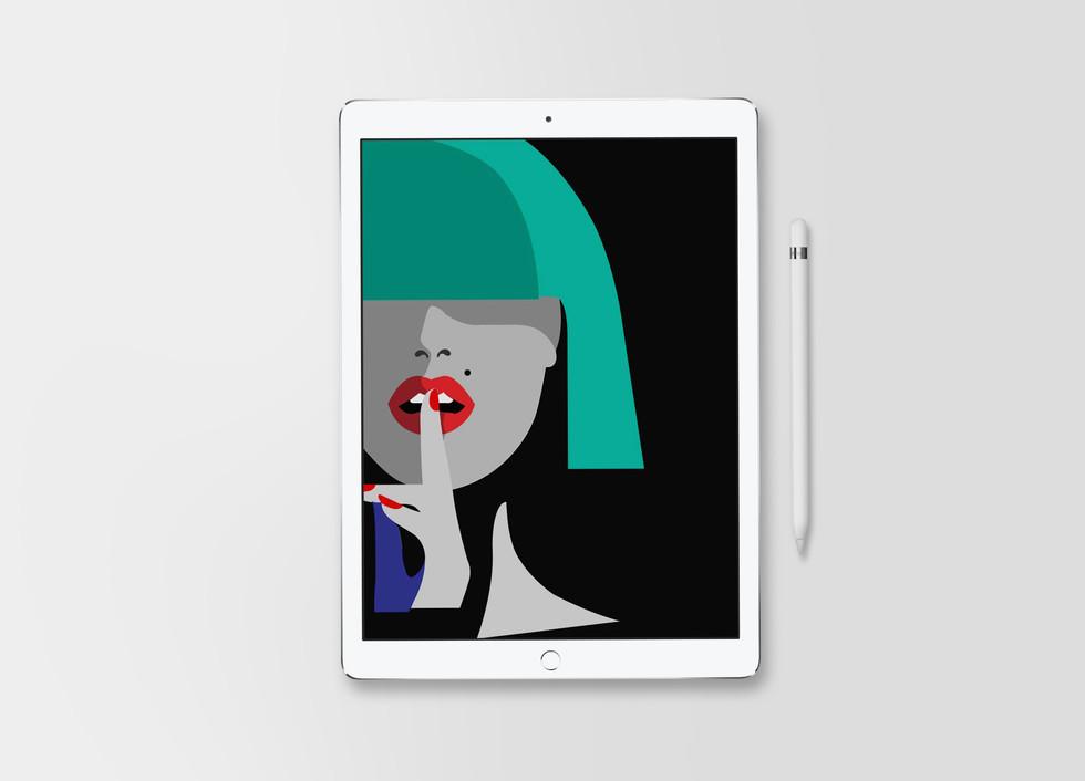 Shhh... iPad Mockup
