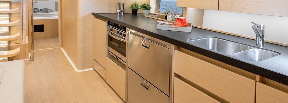 Hanse 508 Kitchen