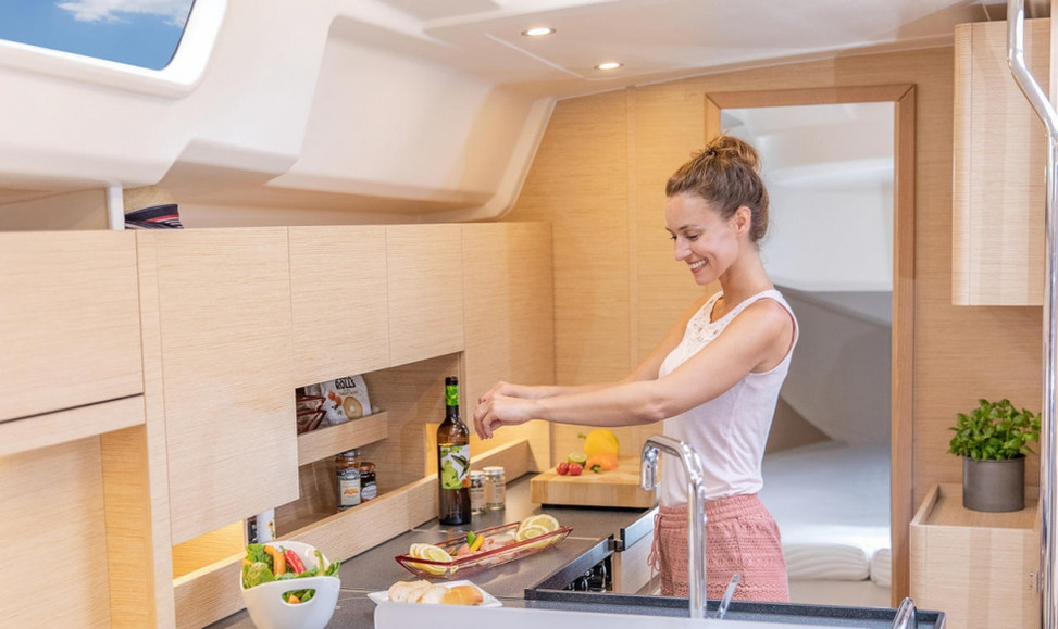 Hanse 458 Kitchen