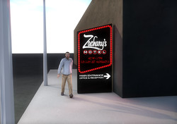 Zachary's Motel Concept 2 Street Sign Day