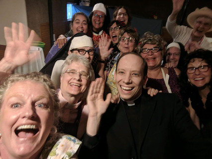 "Fr. Mark attends ""Church Ladies"" play"