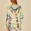 Thumbnail: Multi Swirl Tie Dye Reverse Burnout Fleece Hoodie