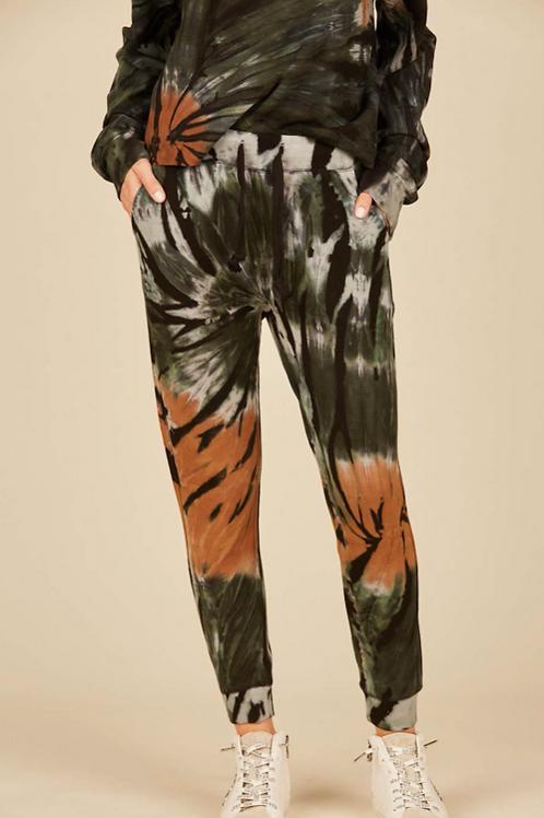 Black Forest Tie Dye Drapy Modal Porkchop Pocket Jogger