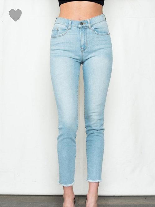 Sneakpeak High Rise Crop Skinny Jeans