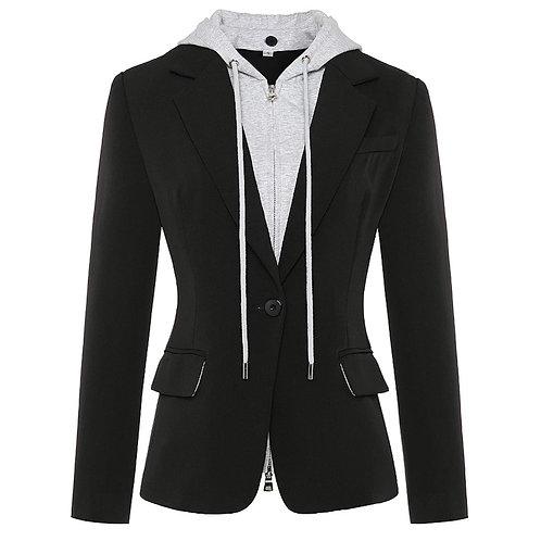 Blazer Jacket With Hood