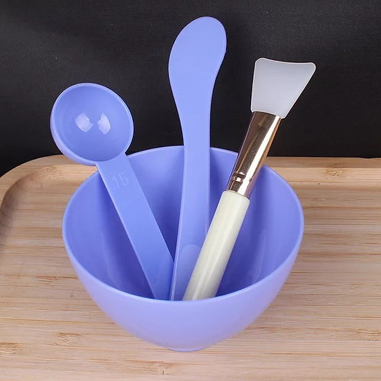 Spa Mixing Bowl & Tools Purple