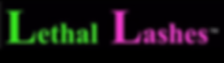 Lethal Lashes Logo Eyelashes Canada training edmonton alberta