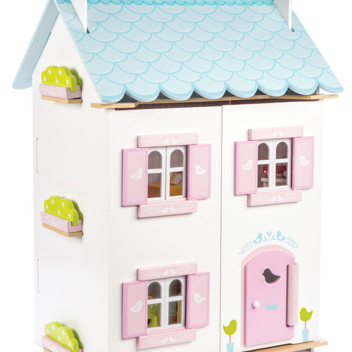 Traditional Wooden Blue Bird Dolls House Toy ...