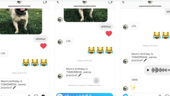 Instagram Rolls Out Voice Messaging