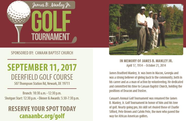 Canaan Baptist Church - James B. Manley Jr. Golf Tournament @ Deerfield Golf Course | Newark | Delaware | United States