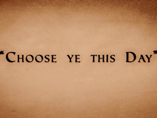 Choose Ye This Day: Salvation, Education or Incarceration