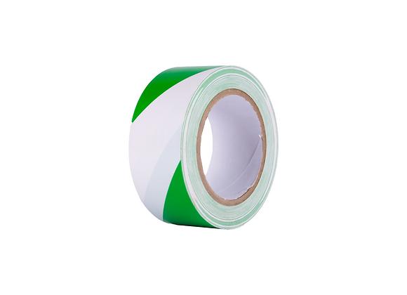 Vloermarkeringstape Groen/Wit