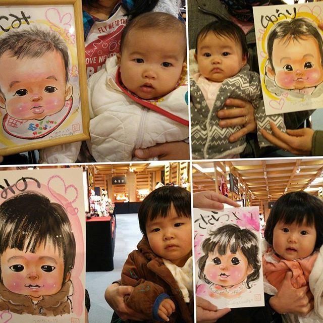 赤ちゃんもたくさん描いています