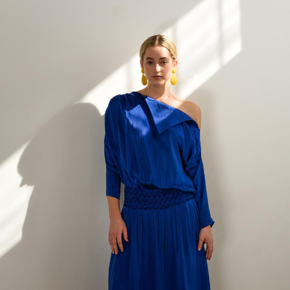 The Samira dress in Cobalt