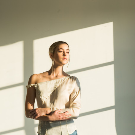 The Aida top in Ivory