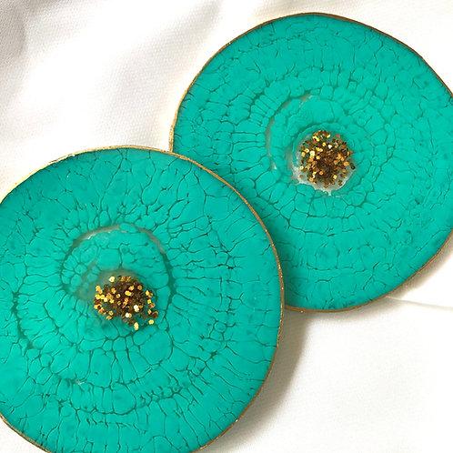 Rashi Agrawal Art Mineral Coasters (Set of 2)
