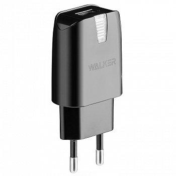 CЗУ WALKER WH-21 USB (2А) блочок, черное