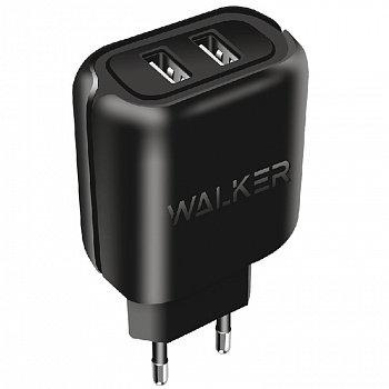 СЗУ WALKER WH-27 2 USB разъема (2,1А) блочок, черное