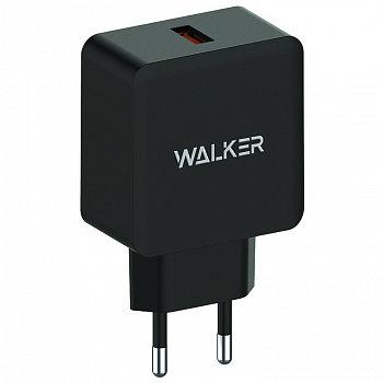 СЗУ WALKER WH-25 USB разъем (2,4А) блочок, быстрый заряд QC 3.0 черное