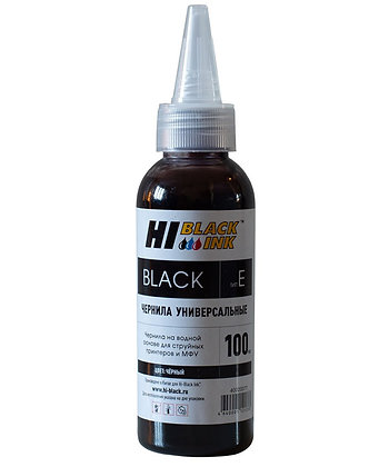 Чернила Hi-Black Универсальные для Epson (Тип E), Bk, 0,1 л.