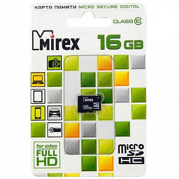 """SD Micro 016 Gb Class 10 """"Mirex"""" с адаптером"""