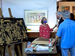 ARTist-in-residence Liz Conces-Spenser gives her studio talk