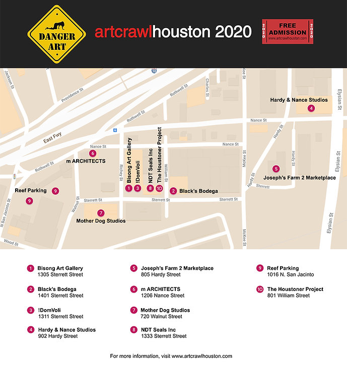 ArtCrawl Houston 2020 Map