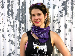ARTist-in-residence SARA LUCINDA arrives with the pulchritude of her glorious day glow smile ...