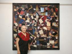 Charlie Jean Sartwelle by her artwork